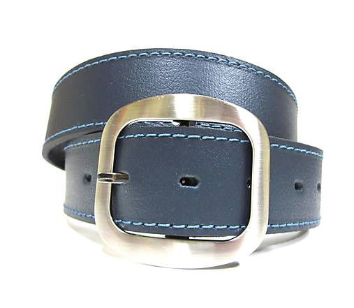 63088faa0 Dámsky kožený opasok modrý / SK-Opasky - SAShE.sk - Handmade Opasky