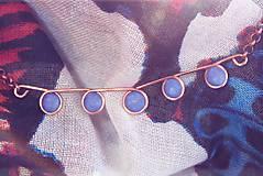 - Modro-medený náhrdelník - 4817281_
