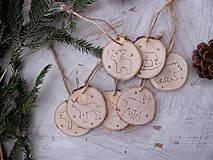 Vianoce - Brezové vločky a zvieratká - 4813916_