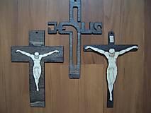 Drobnosti - Drevený krížik - vyrezávaný - 4817107_