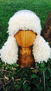 Čiapky - Plstená zimná čiapka ušianka - 4815208_