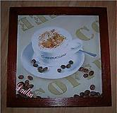 Obrázky - Capuccino v drevenom ráme - 4813664_