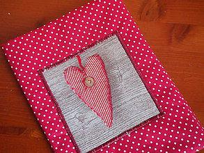 Papiernictvo - Obal na knihu   srdce - 4816482_