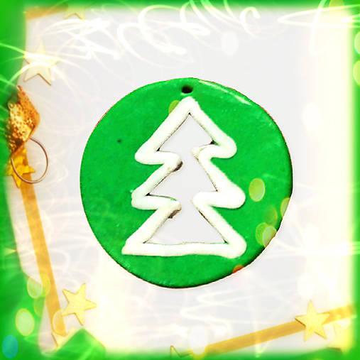 Deravá vianočná ozdoba - stromček NA ZÁKAZKU