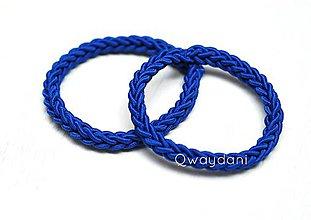 Ozdoby do vlasov - SET GUMIČIEK   Kráľovsky modré - 4821646_