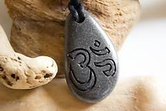 Náhrdelníky - OM symbol na kameni - 4822555_
