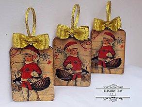 Dekorácie - Vianočné ozdôbky RETRO Girl - sada - 4819941_
