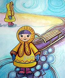 Grafika - Maľby pre každého...Aki ožíva... - 4819925_