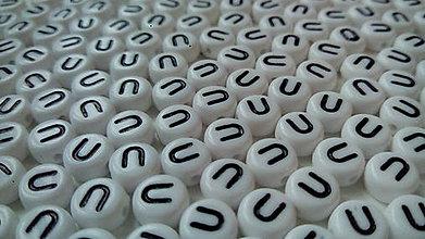 Korálky - Písmenka lentilkové U - 4818507_
