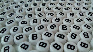 Korálky - Písmenka lentilkové B - 4818514_