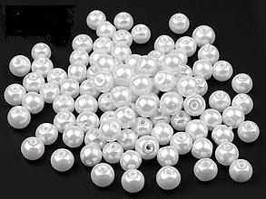 Korálky - Voskované perly Ø6mm 10kusov - 4821626_