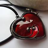 Náhrdelníky - Srdce rudé - 4821607_