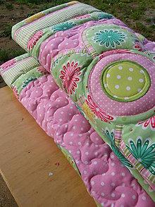 Úžitkový textil - Kvety...zástena :) - 4823039_
