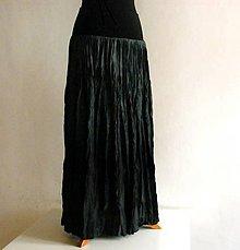Sukne - Černošedá....dlouhá hedvábná sukně - 4819481_