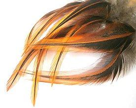 Suroviny - 1-2*20 Pierka s oranžovým koncom (W2)- 2ks - 4824805_
