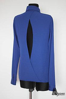 Košele - Blúzka s holým chrbátom rôzne farby - 4824958_