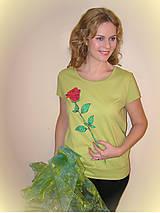 Tričká - Ruža na želanie... - 4824907_