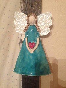 Dekorácie - Anjel nástenny väčší - 4826573_