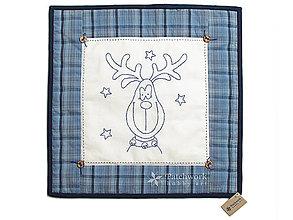 Úžitkový textil - Obliečka na vankúš Sob modrý - 4825682_