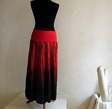 Sukne - Ďábelská...dlouhá hedvábná sukně - 4826356_