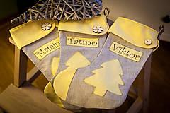 Vianočné čižmičky- žlté