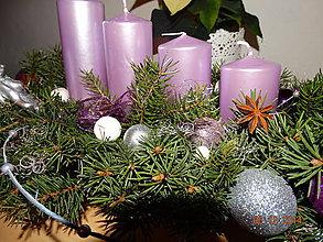 Svietidlá a sviečky - Adventný svietnik - 4828383_
