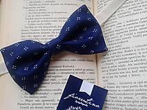 Doplnky - modro(tlač)motýľ - pánsky motýlik - 4827627_