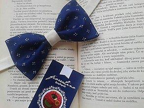 Doplnky - modro(tlač)motýľ - pánsky motýlik - 4827618_