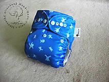 Detské doplnky - -- NA SUCHÝ ZIPS -- Modrí ľudkovia - PUL Kapsová Plienočka (veľ. S-M-L) + vkladačka - 4828097_