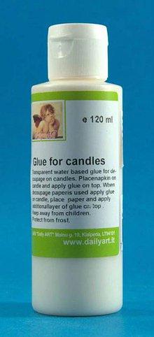 Farby-laky - Lepidlo na decoupage na sviečky 120 ml, ihneď - 4827458_