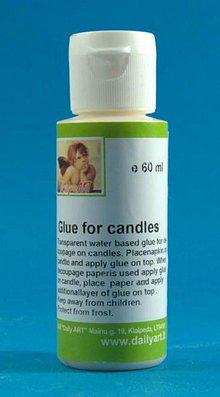 Farby-laky - Lepidlo na decoupage na sviečky 60 ml, ihneď - 4827552_
