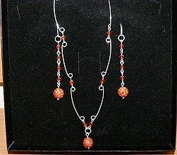 Sady šperkov - Oranžová sada - 4830678_