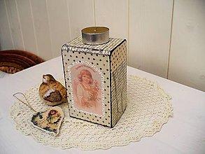 Svietidlá a sviečky - Vintage drevený svietnik - 4831238_