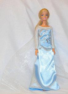 6c21a61f2154 Hračky - Šaty Elsa pre Barbie na objednávku - 4832269