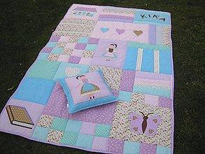 Úžitkový textil - fialková deka - 4834845_