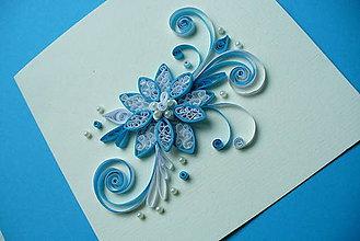 Papiernictvo - Vianočná hviezda modrá - 3D - 4831866_