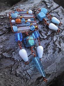 Sady šperkov - Drôtovaná súprava Štvorčeková - zľava - 4833530_