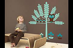 Dekorácie - Sovičky - detská nálepka na stenu - 4835393_