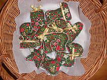 - Vianočná zelená hviezdičková supravka - 4839127_