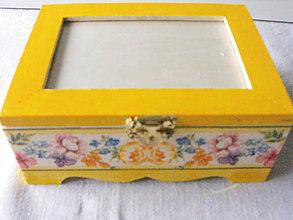 Krabičky - romantik na foto - žltá - 4837753_
