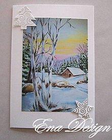 Papiernictvo - Vianočná pohľadnica- Sladká zima - 4837946_