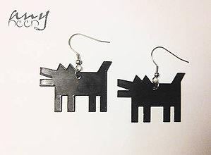 Náušnice - DOG a Keith Haring - náušnice - 4838712_