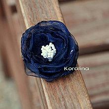 Ozdoby do vlasov - Sponka - modrá - 4837182_