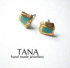 Náušnice - Tana šperky - keramika/zlato - 4838195_