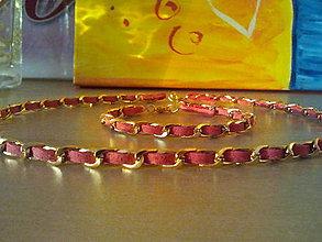 Náhrdelníky - Retiazkový náhrdelník - lososový - 4838851_