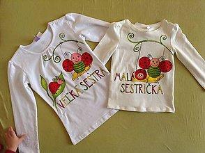 Detské oblečenie - Sesterský set tričiek \