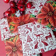 Úžitkový textil - Obojstranné vianočné podšálky - 4837747_