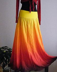Sukne - Hořím? Nehořím? :-)...dlouhá hedvábná sukně (se spodničkou) - 4839786_