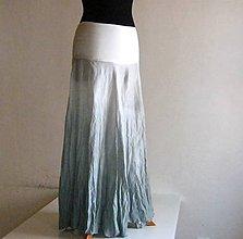 Sukne - Chodit tak ve stříbře!....hedvábný set sukně a šály - 4839831_