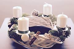 Dekorácie - Adventný venček biely  - 4843869_